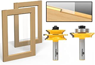 Yonico 12234 Ogee 2 Bit Glass Door Rail and Stile Router Bit Set 1/2-Inch Shank