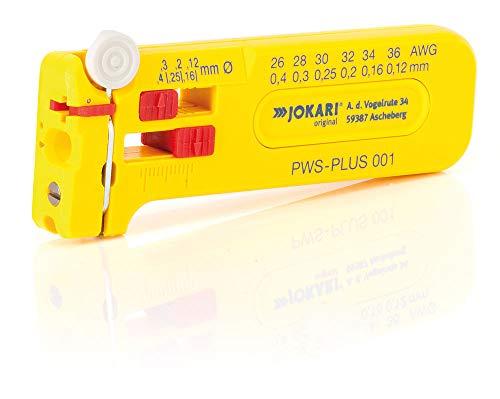 Jokari Präzisions Abisolierwerkzeug PWS-Plus 001 (für Leitern und Litzen AWG 36 – 26, ø 0,12 – 0,4 mm, Abmantelwerkzeug, mit Schneidvorrichtung) 460405