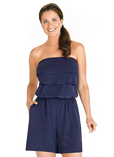 Carol Wright Gifts Terry Cloth Romper | Strapless Terry Cloth Romper, Color Navy, Size Extra Large,...
