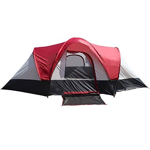 Rode Strandtent met 2 Slaapkamers, 1 Slaapkamer, 6 Personen, Buiten Kamperen Dubbele Laag Anti-storm Twee Slaapkamers Met 1 Slaapkamer, Camping, Toeristische Tent Buiten Uitrusting Zwembed