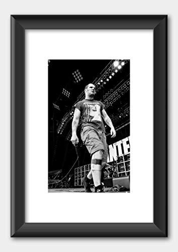 Pantera - Phil Anselmo Monsters of rock 1994 - Poster 2 Black Frame 29.7x42cm (A3) White