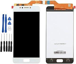 "ixuan Asus ZenFone 4 Max ZC520KL X00HD 5.2"" 修理用フロントパネル(フロントガラスデジタイザ)タッチパネル Lcd液晶パネルセット 修理工具付き ホワイト"