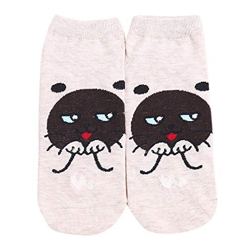 Cardith Frauen-Baumwolle gestreifte Socken-lustige Tierkunst-Animation nette Socke