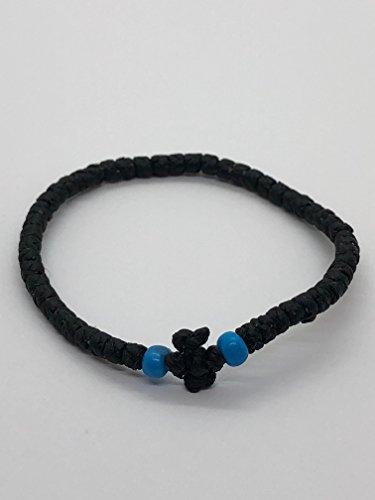 Thin Komboskini Greek Prayer Rope Bracelet (Black)