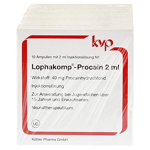 LOPHAKOMP Procain 2 ml Injektionslösung 100 ml Injektionslösung