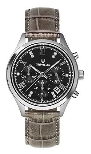 Orphelia Damen Chronograph Quarz Uhr mit Leder Armband OR31800