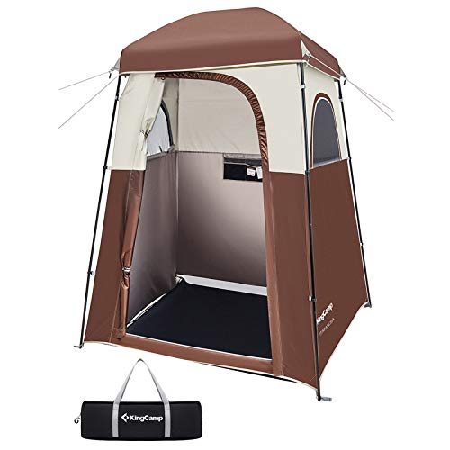 Kingcamp Oversize Extra Wide Camping Privacy Shelter Tent, Portable Outdoor Stand Up Shower Tent Dressing Changing Room with Carry Bag, Camp Toilet, Easy Set Up, 85' x 66' x 66'
