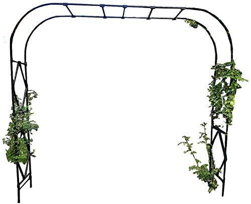 GCSQF Arco de jardín Decoracion Soporte Arcón Tubular Resistente de Alta Resistencia Arco de jardín de Metal Negro Grande para Arco de Soporte Todo Tipo de Plantas trepadoras Decoración de Fiesta