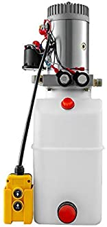Mophorn 6 Quart Hydraulic Pump Hydraulic Power Unit (Plastic, 6 Quart/Double Action)