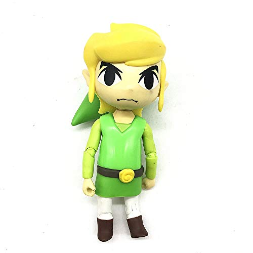 XINFAN Figura de Zelda The Legend of Zelda Link Majora'S Mask Juego Legend of Zelda PVC 10CM Q Ver. Figura de acción de muñeca de Juguete Zelda Link