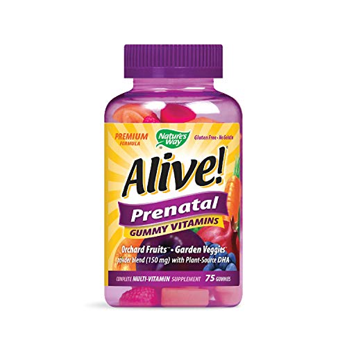 Nature's Way Alive! Prenatal Premium Gummy Multivitamin with DHA, Fruit and...
