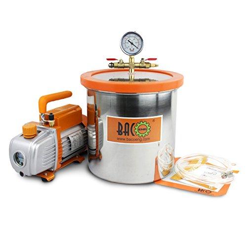 BACOENG Bomba de Vacío 85 L/min con 12 Litro Cámara de vac