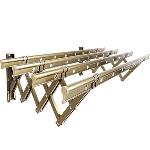 MHCYKJ Tendedero Pared Plegable Extensible AleacióN De Aluminio,con Ganchos,100Cm PráCtico Tendal para Secar Ropa En El Lavadero Ideal Ahorrar Espacio (Size : 1 Meter 4 Bars)