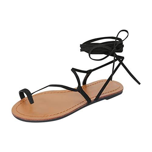 FRAUIT Sandali Donna Bassi Schiava Sandalo Basse Con Lacci Sandali Da Spiaggia Mare Piscina Sandali Ragazza Basso Particolari Scarpe Donne Eleganti Estive