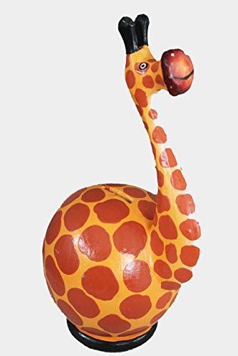 Naturesco Spardose Sparbüchse Holzfigur Giraffe 33cm