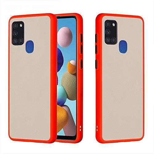 BAIYUNLONG Funda Protectora, for Samsung Galaxy A21S Mano de la Piel Sensación de Manos a Prueba de Golpes Frosted PC + TPU Funda Protectora (Color : Red)
