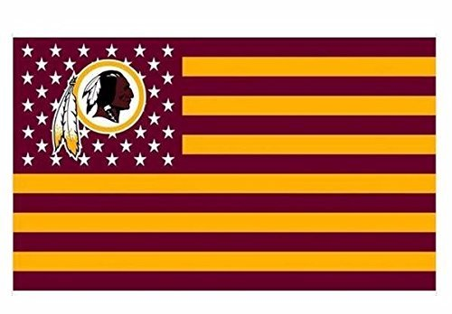 GProducts Washington Stars and Stripes Football Team Flag - 3X5 FT Flag