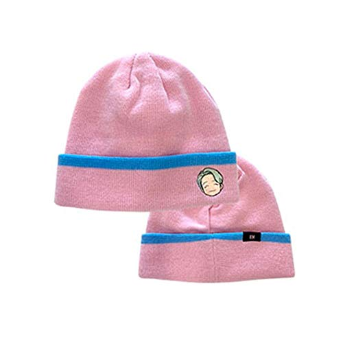 BTS TinyTan Official Merchandise - RM Rap Monster Embroidered Acrylic Winter Warm Soft Stretch Knit Beanie Hat Cap