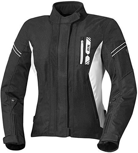 IXS Motorradjacke mit Protektoren Motorrad Jacke X-Damen Jacke Alana Evo schwarz/weiß 3XL, Tourer, Sommer, Polyester
