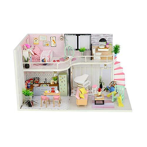 Zerodis Maison en Bois Assembl/ée 3D Puzzle Villa Maison B/âtiment Mod/èle Maisons de Poup/ées Jeu dImitation Jouet Educatif pour Cadeau Enfant