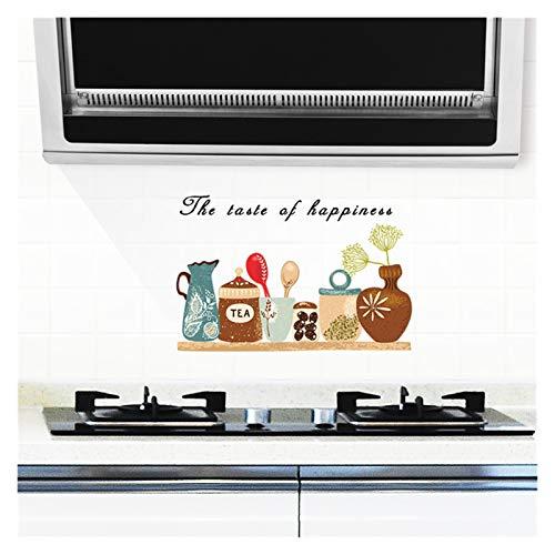 YSJSPOL Pegatinas de Pared Cocina autoadhesiva Pegatinas de Pared a Prueba de Aceite Estufa de Cocina Etiqueta engomada A Prueba de Aceite Fondo de Pantalla Impermeable (Color : 10, Size : 30x90cm)