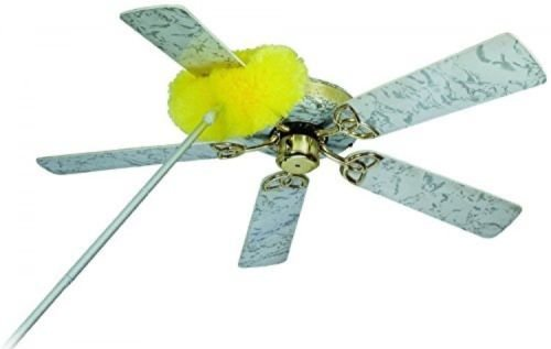 3 Pack - Removable and Washable Microfiber Ceiling and Fan Duster New Yellow