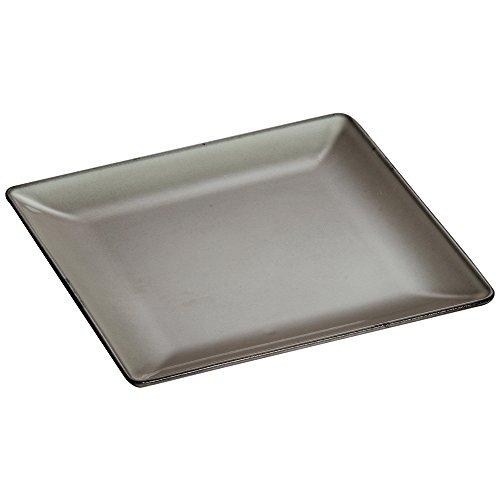 STAUB Quadratischer Flacher 24 x 24 cm Teller, Gusseisen, grau, 24 cm x 24 cm