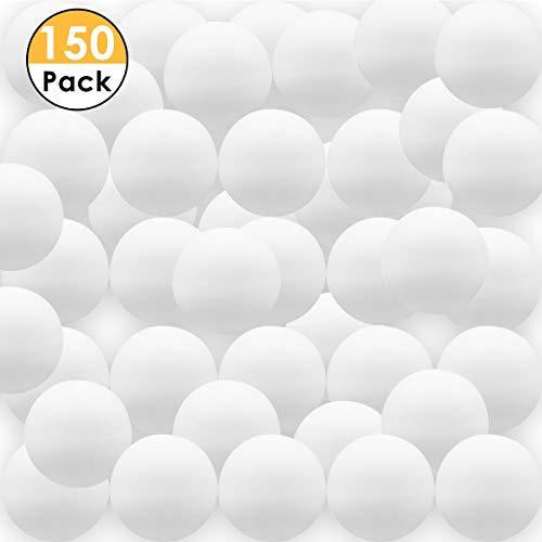 40mm Nahtlose tischtennisbälle Kunststoff matt ping Pong Ball für Praxis ersatz (Size : 150pcs White)