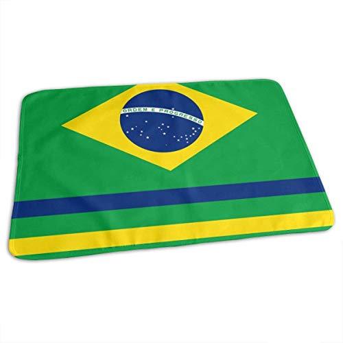 Braziliaanse Vlag Veranderende Pad Waterdichte Draagbare Baby Veranderende Mat om Luier Matraskussen Cover voor Jongen en Meisje Pasgeboren (27.5