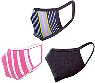 Cotton Cloth pack of 18 Face Mask Washable Reusable Face Masks Soft Earloop/Mouth Nose Cover 2 ply face masks Men Women Ki...