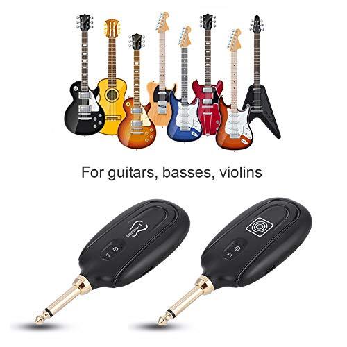 Jadpes draadloze gitaarversterker, M7-gitaarradiozender- en ontvangersysteem audio-overdragset voor elektrische gitaarbas met stereo-jackkabel