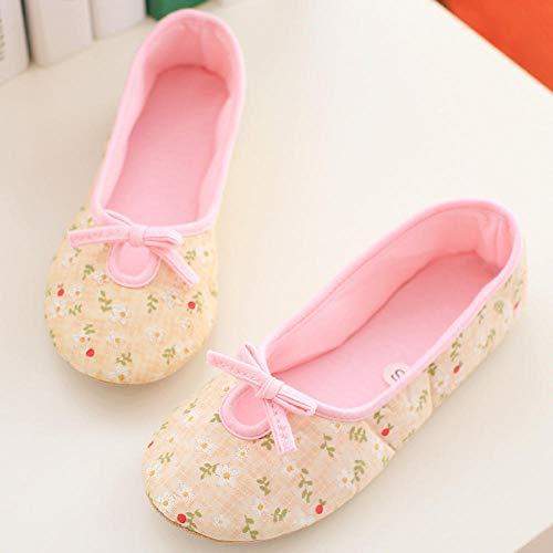 B/H Talón Acolchado,Zapatos de confinamiento Ligeros, Zapatos de Maternidad Antideslizantes con tacón Envuelto-A_M (37-38),Zapatillas Que absorben