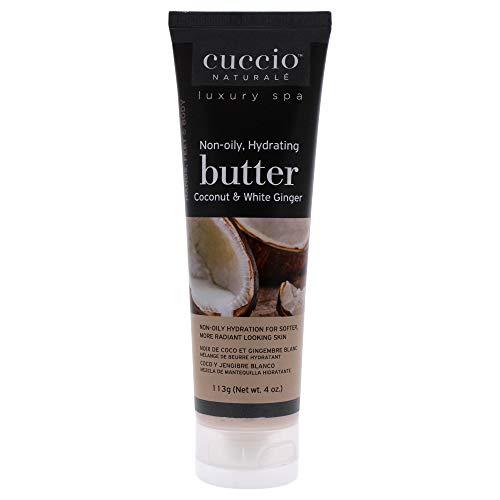 Cuccio Beurre Hydratant Noix de Coco/Gingembre Blanc pour Unisexe Corporel 4 oz