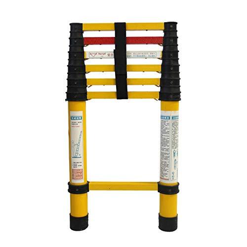 Aislamiento Escalera Telescópica para Electricista Escalera de Fibra de Vidrio No Conductivo Trabajo Pesado Alto Ligero