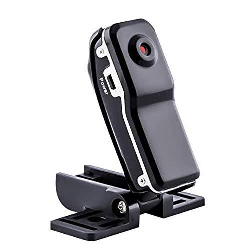 CALISTOUS versteckte Videokamera mit Halterung, tragbar, Mini DV HD Sport Action Kamera Weitwinkel Video Recorder versteckte Sicherheitskamera