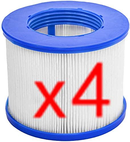 ERTLKP CosySpa Ersatz-Whirlpool-Filter, für Aqua Spa-Filter, Whirlpool-Ersatzfilter für Wellness Spa für Whirlpool für Aquaparx für Ospazia, für G Spa, für BCool, für Mspa, für Nordic (4 Stück)