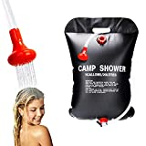 Wocream Camping Portable Solar Shower Bag,Total 7.5 Gallons/30L, with On/Off Shower Head, with Collapsible Water Container, for Camping, Beach Swimming, Outdoor Traveling, Camping Accessories