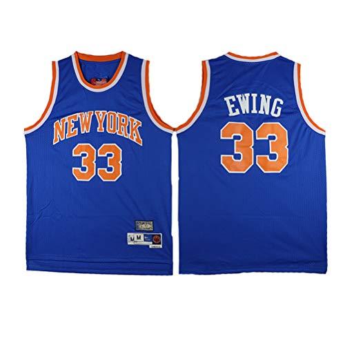 XH-CHEN Patrick Ewing Baloncesto Jersey NBA New York Knicks 33# Tela Respirable Fresco Retro de Las Estrellas Jersey, Malla Unisex con Capucha Baloncesto Aficionado,XL(185cm/85~95kg)