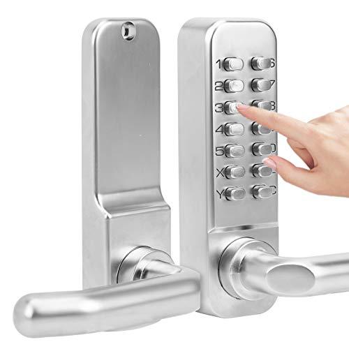 Cerradura de puerta de contraseña mecánica digital, Botón pulsador Teclado de código digital,...