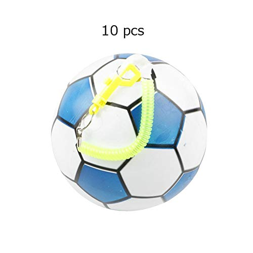 HLH-Fitness Equipment Durable Kindergarten Toys Soccer Ball Mini Soccer Toys PVC Soft Balls for Toddlers Kids Aged 1-4 Years Old with Telescopic Belt 10 Pcs Non-Slip (Color : C3, Size : Free)