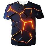 SunFocus Magliette Uomo Manica Corta estive con Stampa T Shirt Divertenti 3D Personalizzate causali Maglietta Girocollo Grafica L