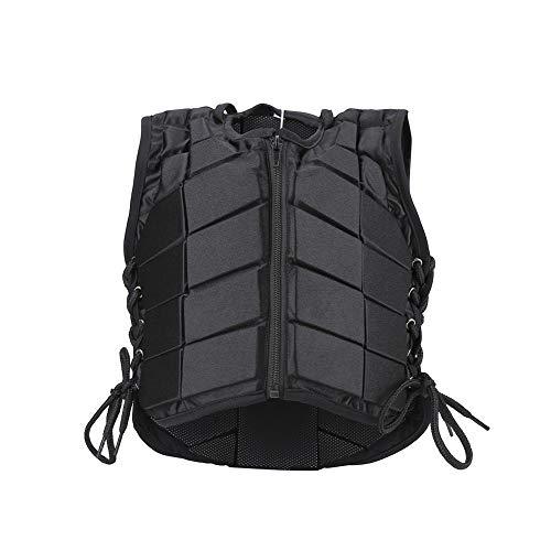 Nikou Reitweste - Schützendes Reiten, Rückenschutzweste, Trainings-Sicherheitsweste, gepolsterte Reitweste mit Reißverschluss für Jungen, Mädchen, Kinder und Kinder (Größe : CS)