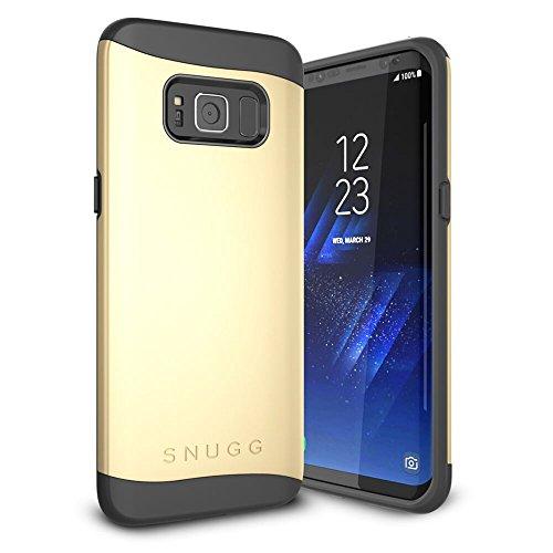 Samsung Galaxy S8custodia, Snugg Galaxy S8Dual Layer Slim cover [infinity Series] protettivo bumper Shell Skin Yellow Gold