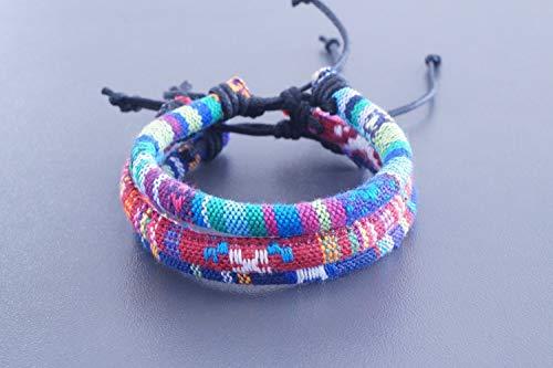 3x Surferarmband Made by Nami Boho Armband Set - Freundschaftsarmband, Beach Bracelet, Surfer türkis rot blau