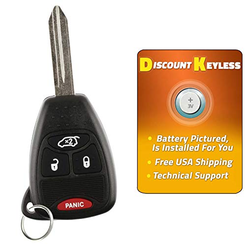 KeylessCanada /© 1 New Keyless Entry 5 Buttons Remote Start Car Key Fob M3N5WY783X IYZ-C01C For Jeep Grand Cherokee /& Commander