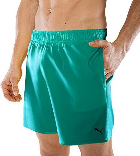 PUMA Herren Badehose Badeshorts Summer Deluxe Swim Shorts - Aqua - Gr. M