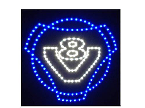 Placa de luz LED con logotipo de Scania V8 para camión