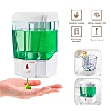 Raword Automatic Soap Dispenser Touch-Free Wall-Mounted Battery Operated for Home, Kitchen, Bathroom, Office