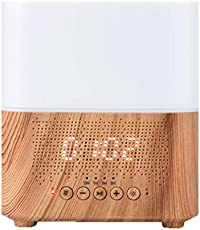 XYSQWZ Bluetooth Speaker Aromatherapy Smart Essential Oil Diffuser 7 LED Therapy Night Light 300ml Cool Mist Ultrasonic Humidifier Wood Grain and Waterless Auto Shut-Off