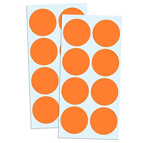 5cm Runde Punktaufkleber Farbkodierung Etiketten Markierungspunkte - Orange, 240 Stück